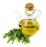 Olive oil glass vessel isolated Royalty Free Stock Photos