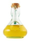 Olive oil glass vessel isolated Stock Images