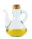 Olive oil glass vessel isolated Stock Photos