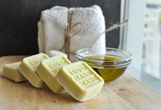 Olive oil handmade soap Royalty Free Stock Photo