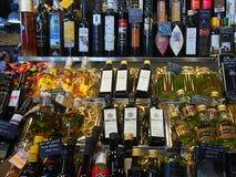 Olive Oil helgon Josep Market, Barcelona royaltyfria bilder