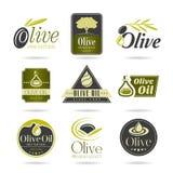 Olive oil icon set Royalty Free Stock Photos