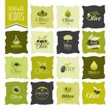 Olive oil icon set Stock Photo