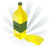 Olive oil illustration Royalty Free Stock Image