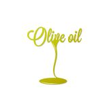 Olive oil isolated sign Royalty Free Stock Images