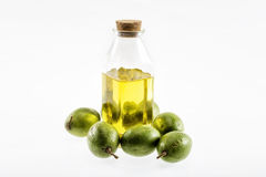 Olive oil. Isolated on white background stock photography