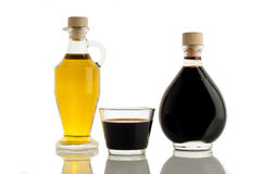 Olive oil and italian balsamic vinegar Royalty Free Stock Images