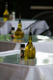 Olive oil in an italian restaurant Stock Photo