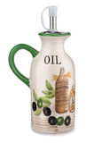 Olive oil jug Stock Photo