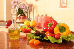Olive oil on a kitchen Royalty Free Stock Photo