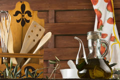 Olive oil in the kitchen Royalty Free Stock Images