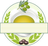 Olive oil label Royalty Free Stock Image