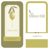 Olive Oil / Label. Two labels for cans or bottles of olive oil Royalty Free Stock Photo