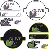 Olive Oil Label. Label for olive oil isolated on white background Stock Photography