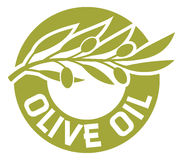 Olive oil label. Olive branch, olive oil sticker, olive oil badge Royalty Free Stock Photo
