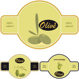 Olive Oil label Stock Images
