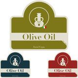 Olive Oil - label Stock Photo