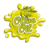 Olive oil label. Olive oil label, badge or seal on the white background,  illustration Royalty Free Stock Photography