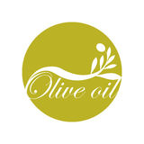 Olive oil label design text icon. Vector illustration eps 10 Stock Image
