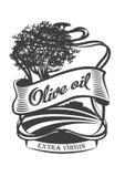 Olive oil label design. Vector illustration. Olive oil label design. Vector illustration Stock Image