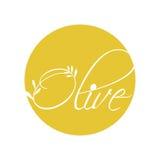 Olive oil label design. Vector illustration eps 10 Royalty Free Stock Images