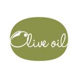 Olive oil label design. Vector illustration eps 10 Stock Photos