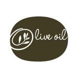 Olive oil label green type design. Vector illustration eps 10 Royalty Free Stock Images