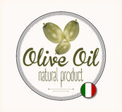 Olive oil label Italy Stock Images