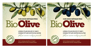 Olive oil labels Royalty Free Stock Photos