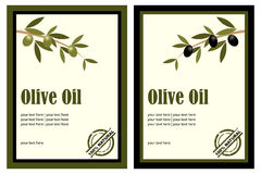 Olive oil labels. Set of two olive oil labels isolated on white background.Useful also as brochure.EPS file available Royalty Free Stock Photography