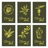 Olive oil labels Royalty Free Stock Image