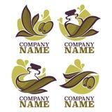 olive oil labels Stock Images