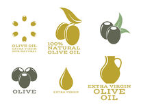 Olive oil.  labels and icons Royalty Free Stock Photo