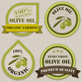 Olive oil labels. Stock Photography