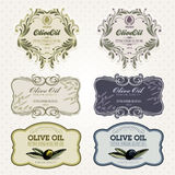 Olive oil labels set royalty free illustration