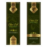Olive Oil Labels Set. Vector Illustration Templates For Olive Oil Packaging Royalty Free Stock Images