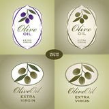 Olive Oil labels. Two types set Stock Photo