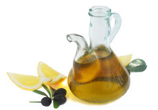 Olive oil and lemon Royalty Free Stock Images