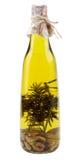 Olive Oil met Rosemary en Knoflook Royalty-vrije Stock Afbeeldingen