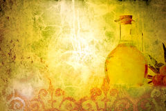 Olive oil old background Stock Photography