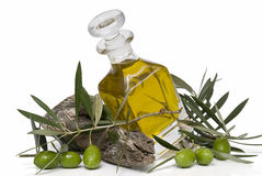 Olive oil and olives. Royalty Free Stock Images