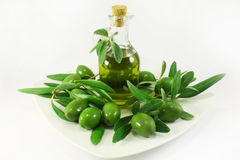 Olive oil and olives Royalty Free Stock Photos