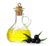 Olive oil and olives Royalty Free Stock Photography