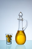 Olive oil and olives. Stock Image
