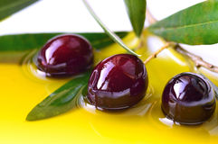 olives and olive oil Stock Photo