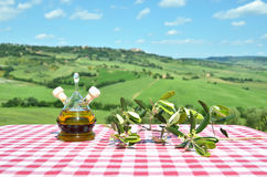 Olive oil, olives and bread Royalty Free Stock Image