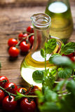 Olive oil and olives, Mediterranean rural theme Royalty Free Stock Photography