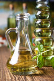 Olive oil and olives, Mediterranean rural theme Royalty Free Stock Image