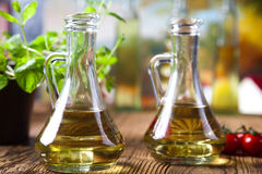 Olive oil and olives, Mediterranean rural theme Stock Image