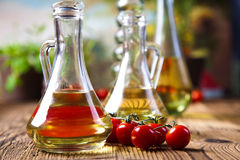 Olive oil and olives, Mediterranean rural theme Stock Photography